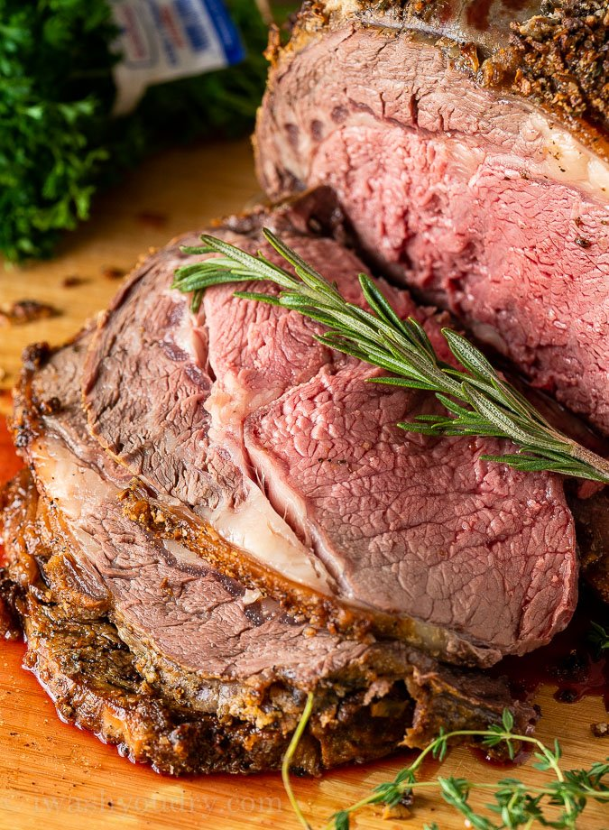 Perfectly cooked Prime Rib Roast
