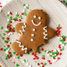 Soft and tender Gingerbread Cookies with a crisp outer edge!