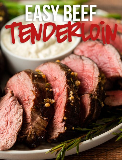Make an impression with this Garlic Roast Beef Tenderloin Recipe. Super easy to prepare, yet tastes like a million bucks!