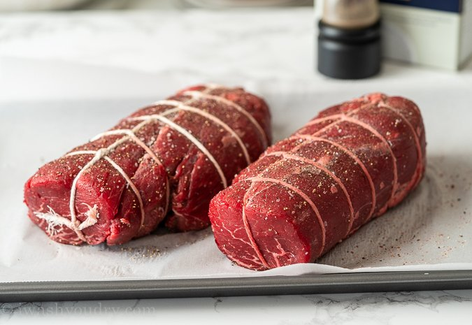 How to tie a beef tenderloin