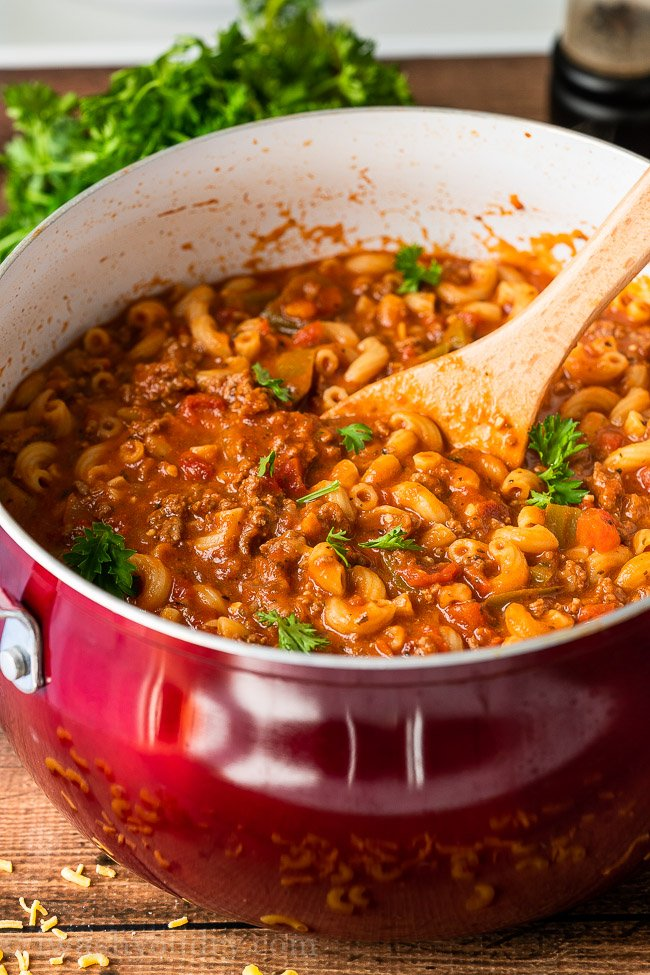 Easy Goulash Recipe made on the stove top.