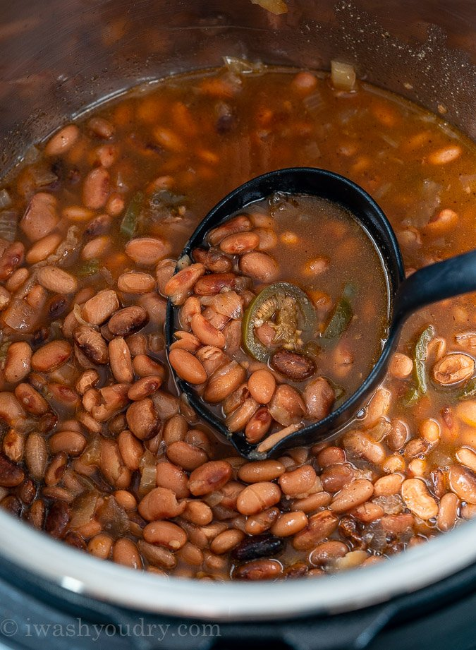 Cooked Pinto Beans in the Instant Pot