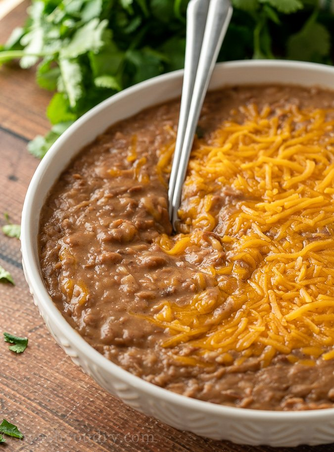 These Authentic Refried Beans are a classic Mexican side dish recipe.