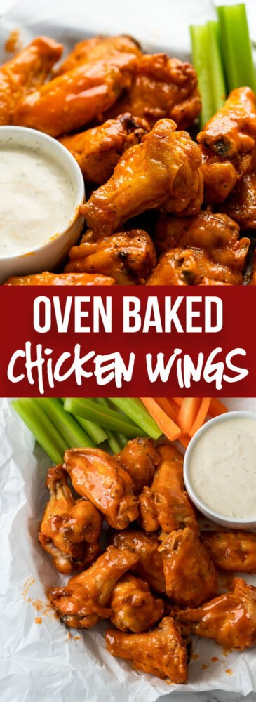 Buffalo Wings on serving plate with ranch dressing