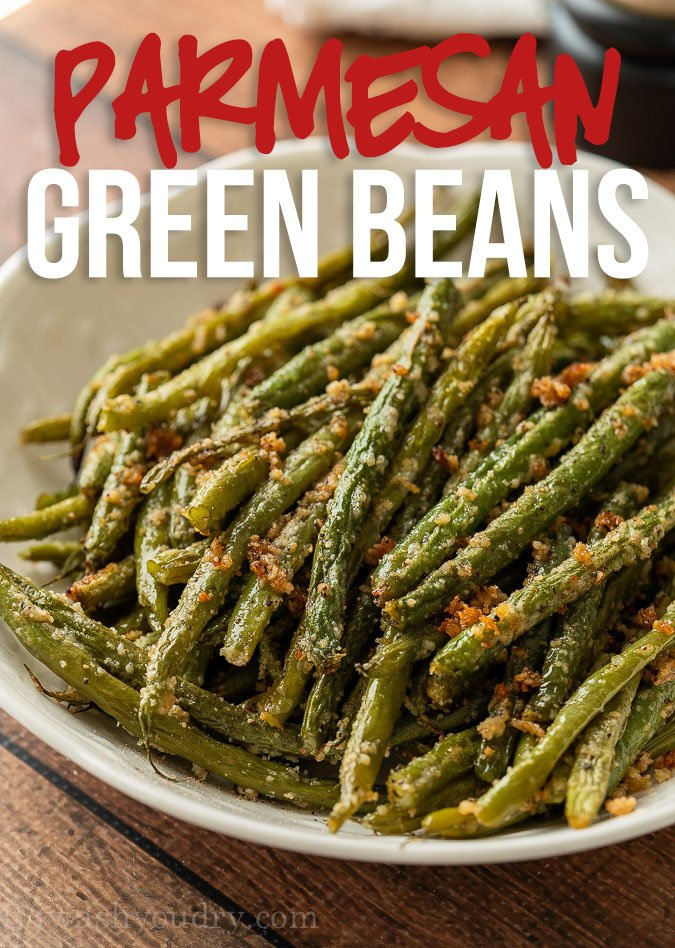 These tender Parmesan Roasted Green Beans are a deliciously quick side dish recipe that come together in under 30 minutes!