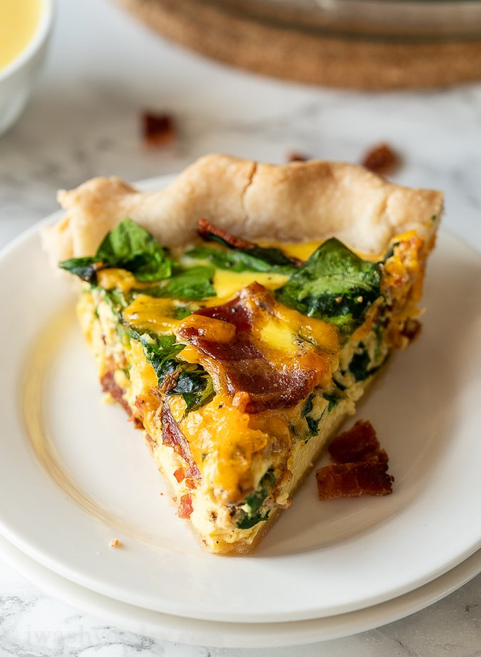 Bacon Cheddar Quiche Recipe I Wash You Dry