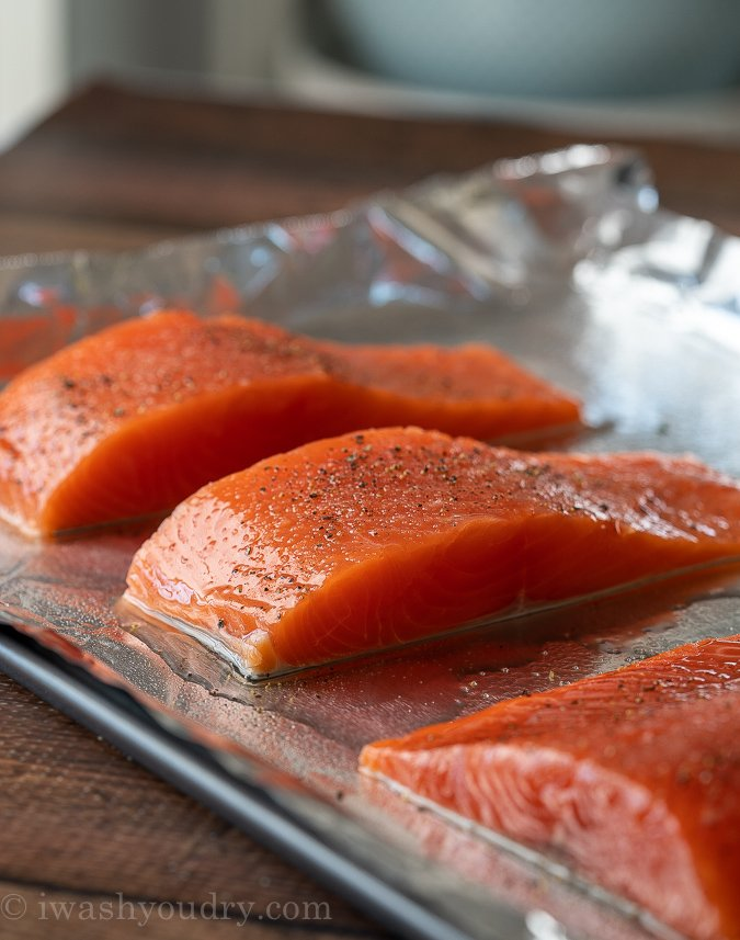 How To Bake Salmon with skin