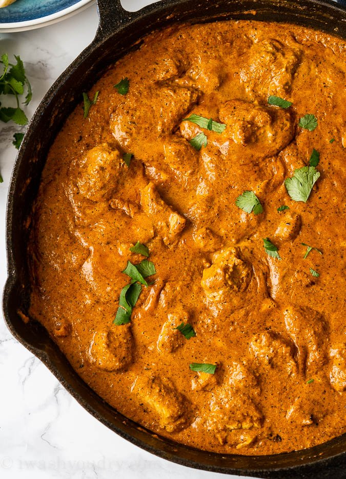 Authentic Indian Butter Chicken Recipe in pan