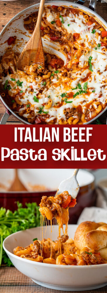 One Pan Italian Beef and Pasta