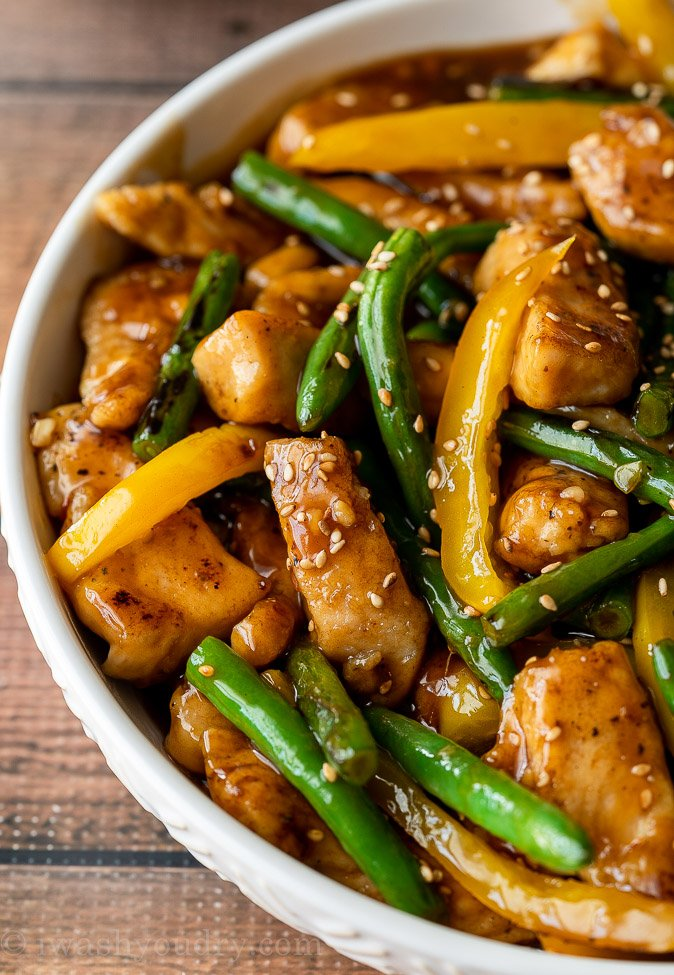 Honey Sesame Chicken Stir Fry I Wash You Dry