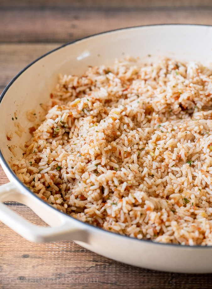 Easy Spanish Rice Recipe using just a handful of ingredients