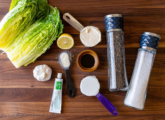 Ingredients Needed For Homemade Caesar Salad Dressing