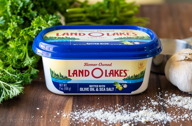 Tub of Land O'Lakes spreadable butter