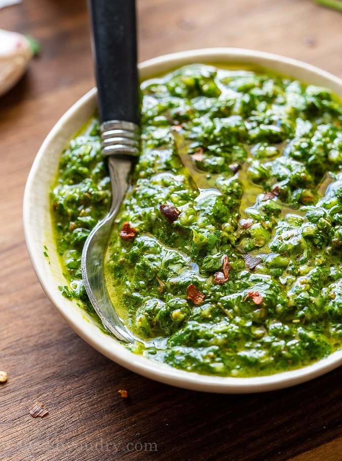 Easy Chimichurri Sauce I Wash You Dry