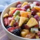 Fresh Fruit Salad with a creamy honey lime dressing