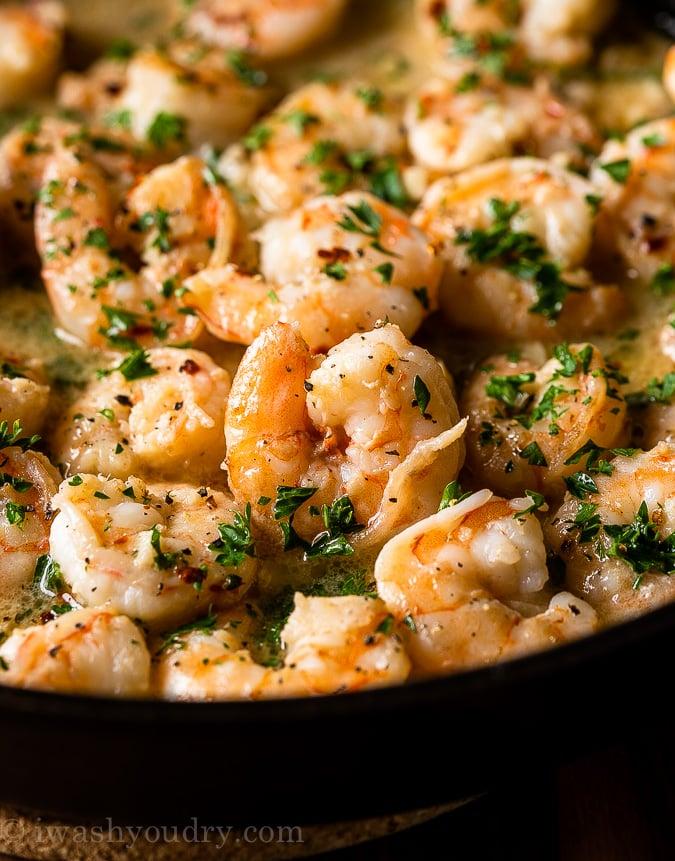 Easy Shrimp Scampi in lemon butter sauce