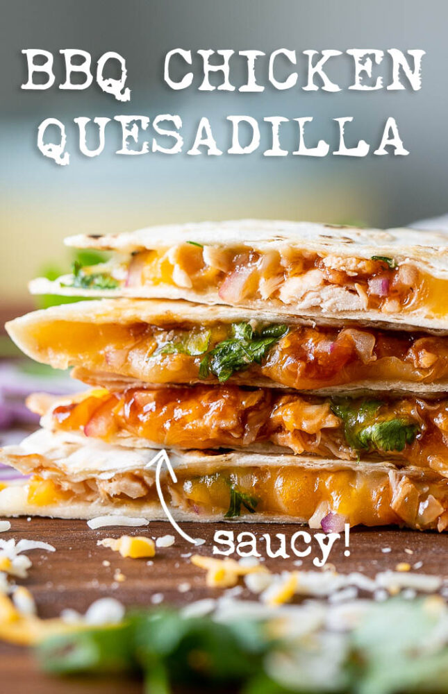 BBQ Chicken Quesadilla for lunch recipe