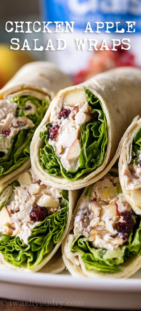 Easy Chicken Apple Salad Wraps