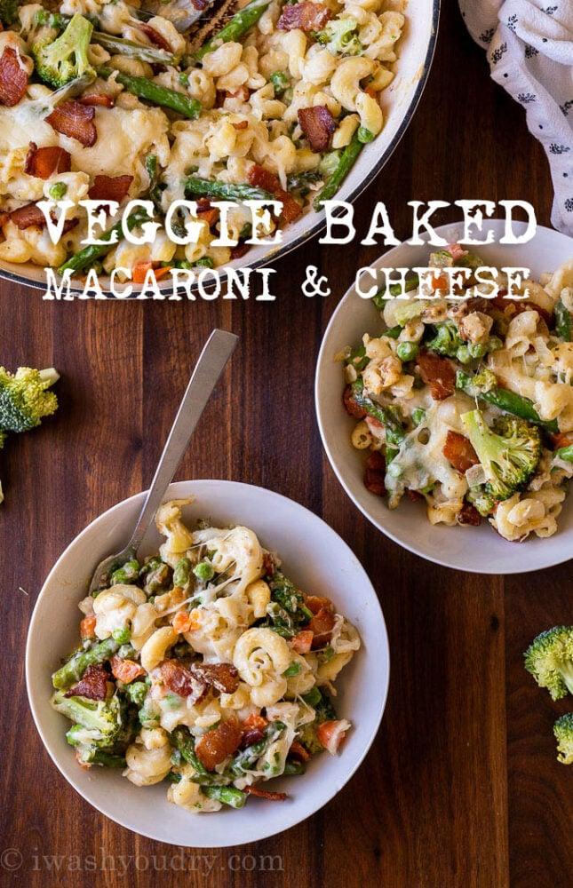 Vegetable Macaroni and Cheese Bake