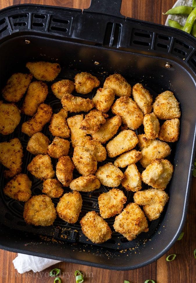 Crispy breaded chicken in air fryer