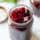 Quick Pickled Beets in a mason jar.