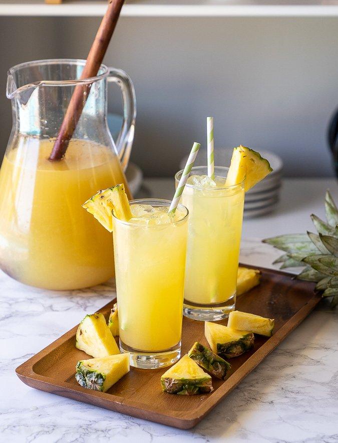 Pineapple Lemonade in two glasses