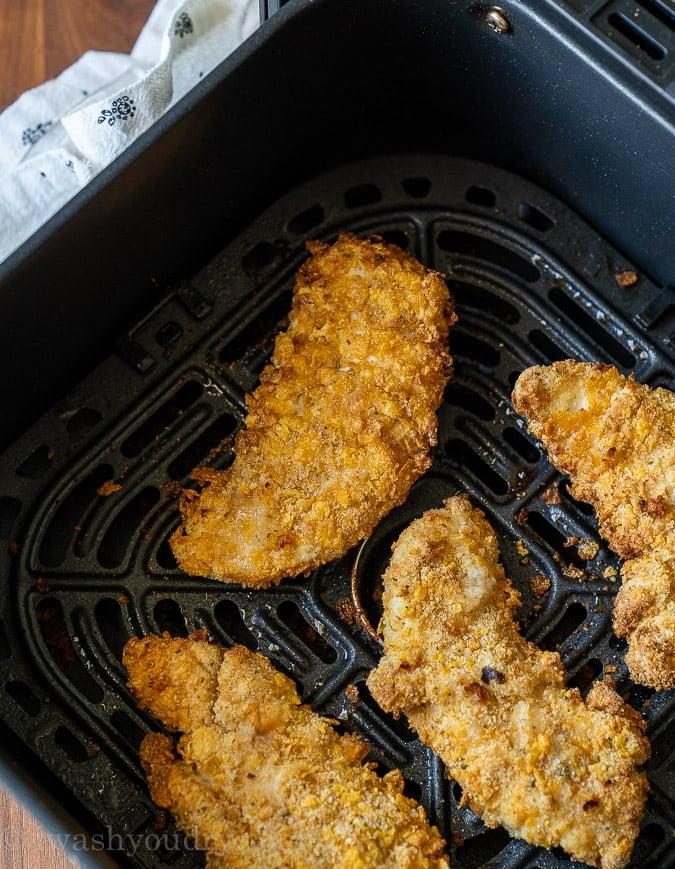 Crunchy Chicken Tenders in Air Fryer Method
