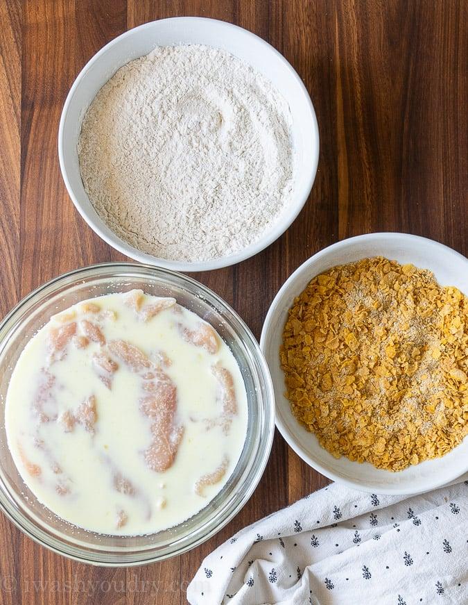 Ingredients needed for Air Fryer Chicken Tenders