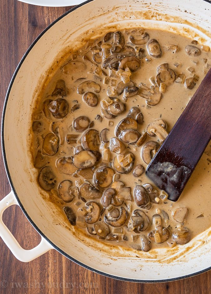 Creamy Chicken Marsala Sauce with mushrooms.