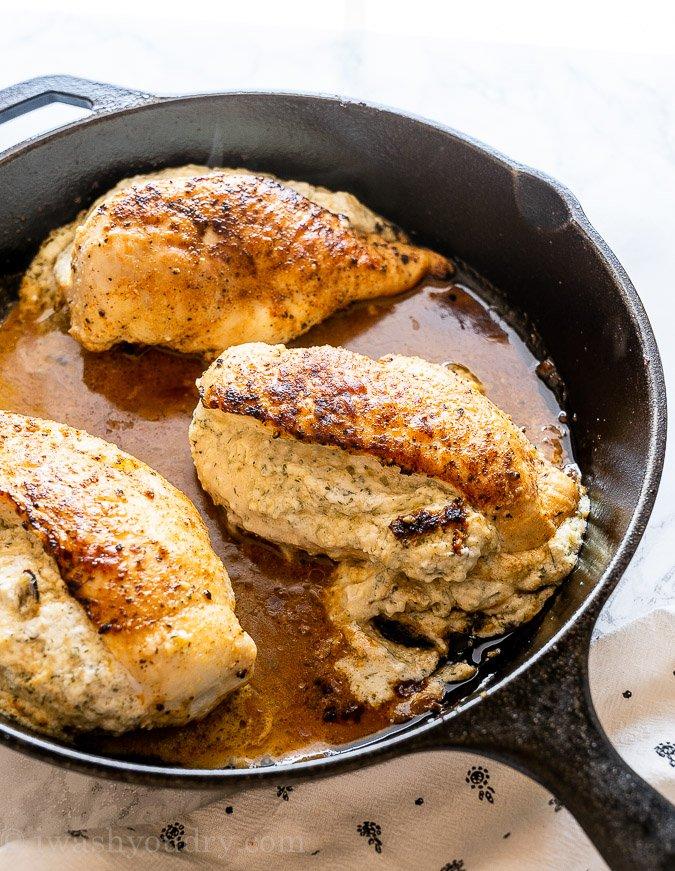 Baked stuffed chicken breast