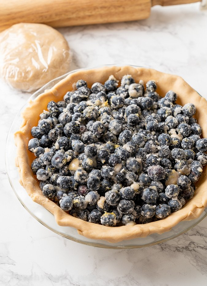 pie filling with blueberries