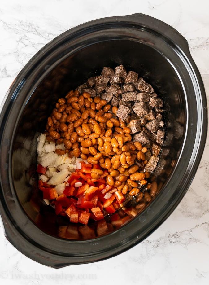 ingredients in crockpot