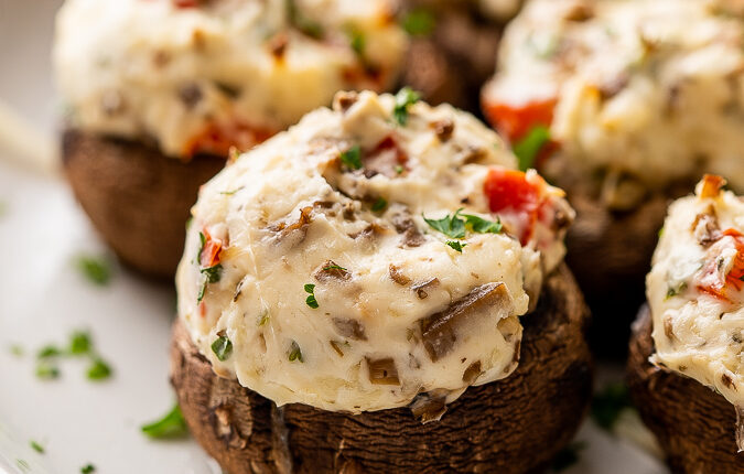 stuffed mushrooms with peppers