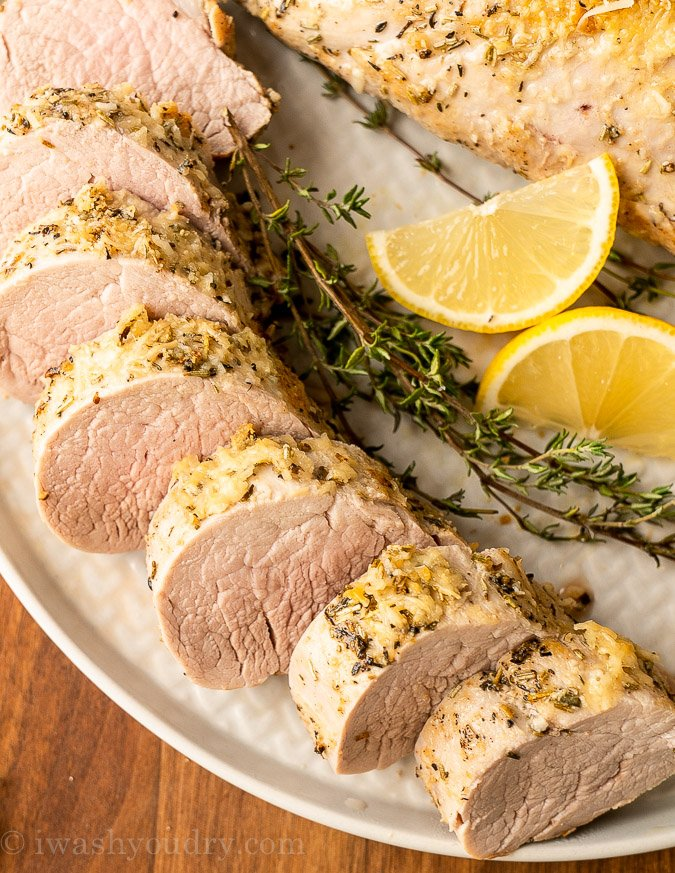 pork tenderloin with lemons and herbs