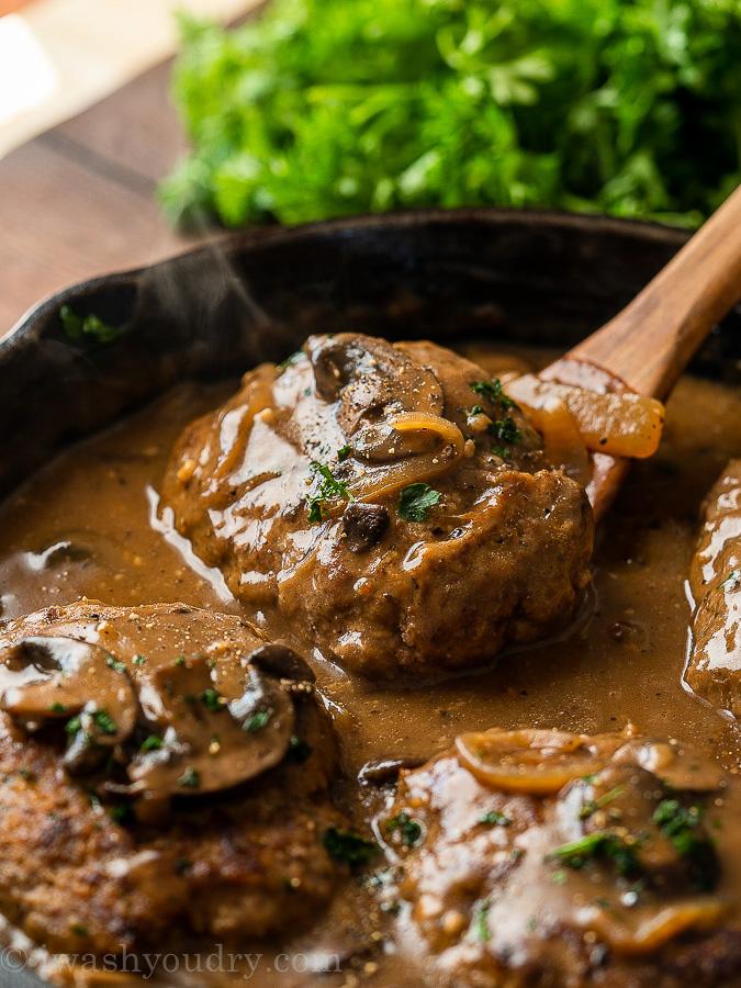 salisbury steak in mushroom gravy
