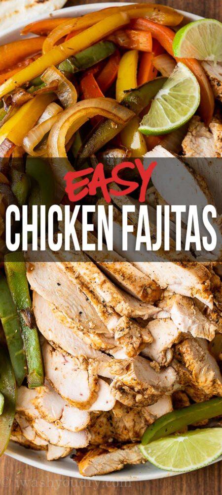 easy chicken fajita recipe