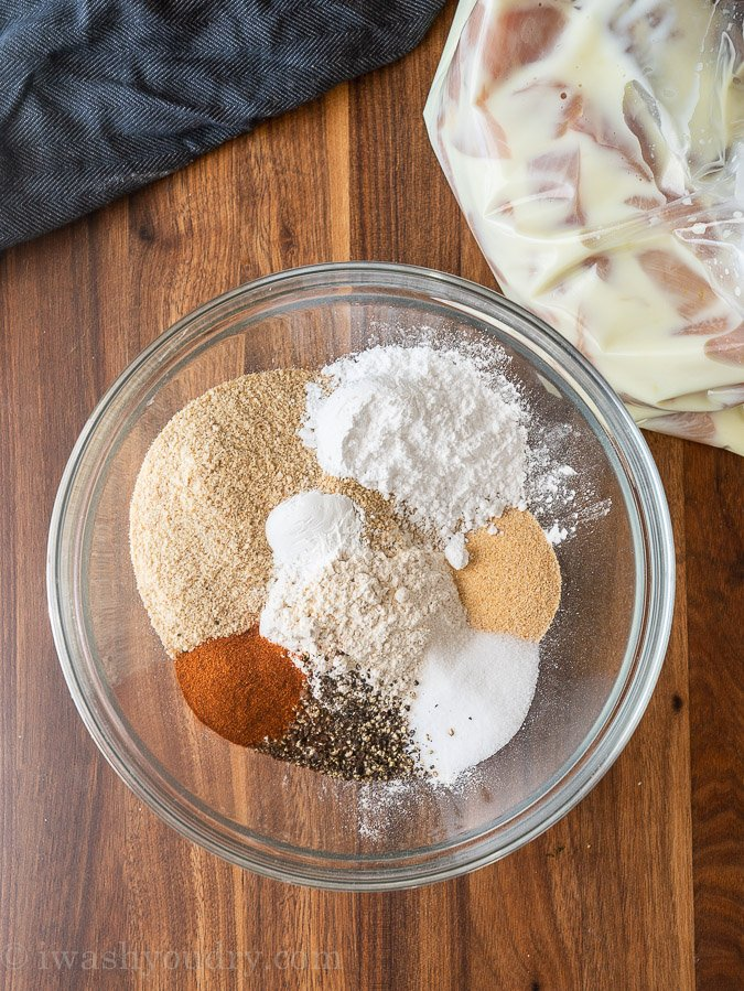 Seasoning blend for chicken nuggets in bowl