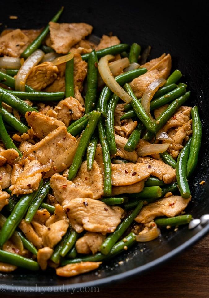 Green Bean Chicken Stir Fry recipe