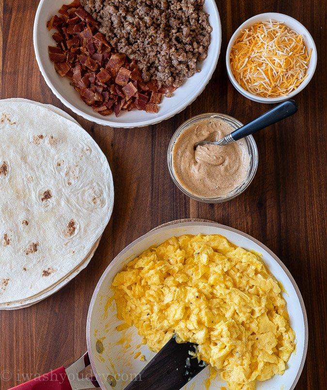 ingredients needed for breakfast burrito recipe