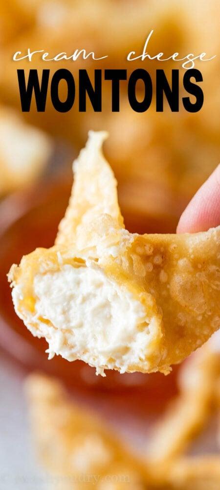 Crispy Cream Cheese Wontons