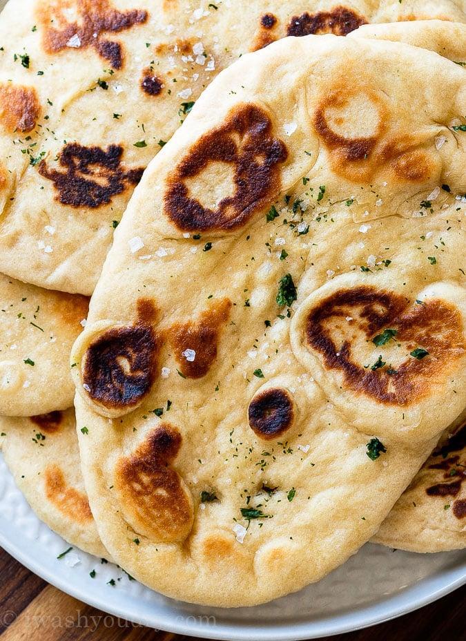 Naan Bread with flakey sea salt