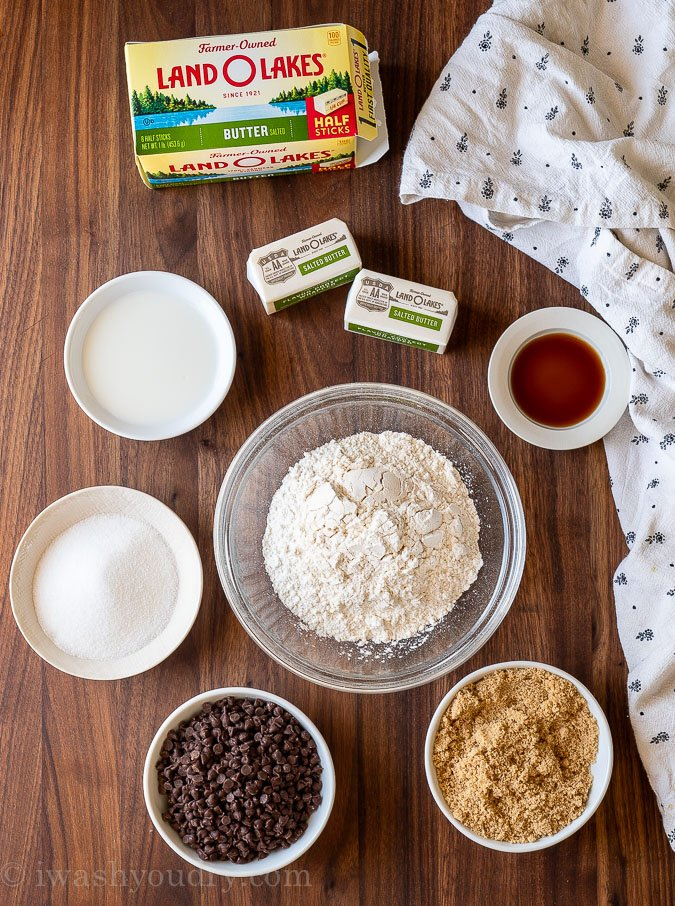 ingredients needed for edible cookie dough