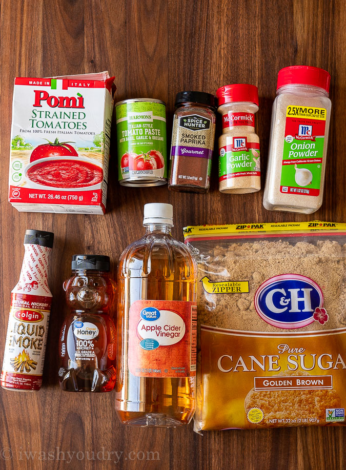 ingredients needed to make honey bbq sauce at home