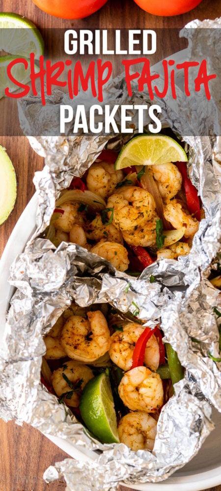 Grilled Shrimp Fajita Packets