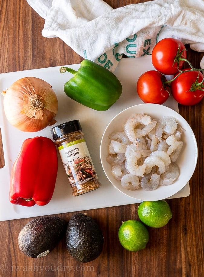 ingredients needed for shrimp fajitas