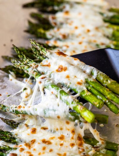 asparagus roasted with cheese