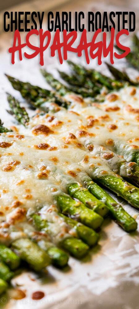 Cheesy Garlic Roasted Asparagus