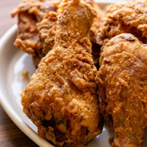 extra crispy fried chicken on a plate