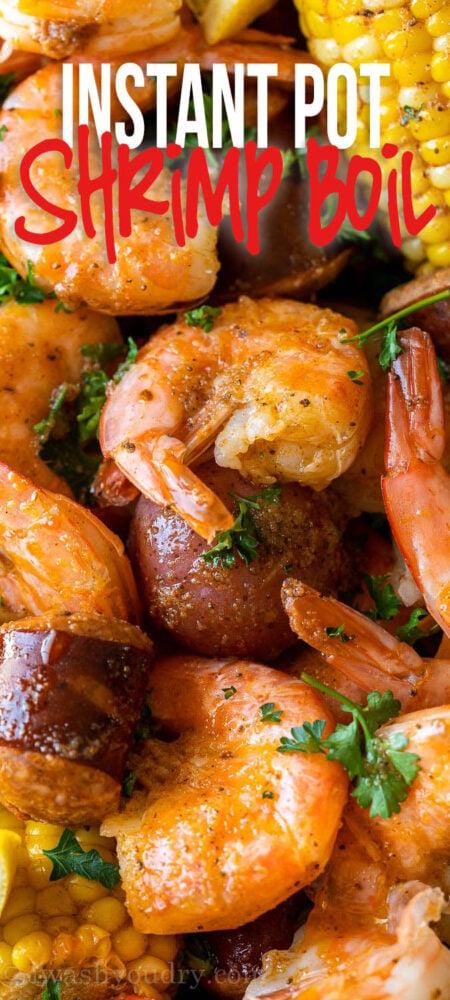 shrimp boil made in the instant pot