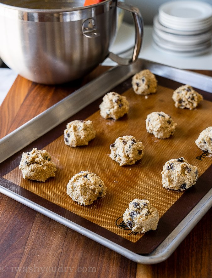 cookie dough on silicone baking mat